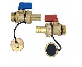 Boiler drain valve for water