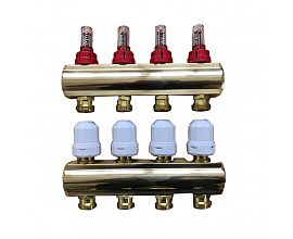 Brass Manifold with Flow Meters