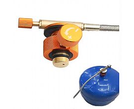Camping Gas Stove Connection Valve Propane Cylinder Tank Hose Adapter 60cm