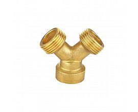 garden tap adaptor Y type brass hose fitting