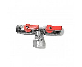 Economic  Nickel Plated 3-way Brass Mini Ball Valve