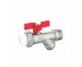 Butterfly handle PPR filter brass strainer valve