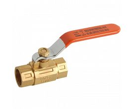 Square Brass Ball Valve with Steel Handle