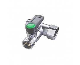 Sell well 3 way two outlet one intlet brass angle valve