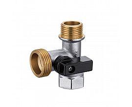 Economic 3 way female*male thread brass angle valve
