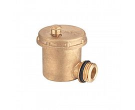 Brass natural air vent valve with 90 degreee