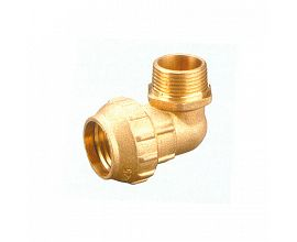 Brass Compression Male Elbow Fitting