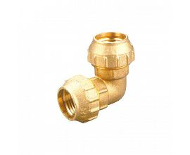 Brass Elbow Double Compression Fittings