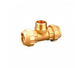 Brass Tee Male Compression Fittings