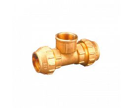 Brass Tee Female Compression Fittings