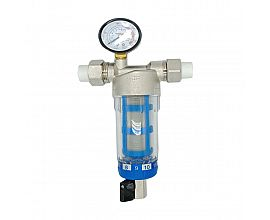 Brass nickel plated pre filter valve with manometer