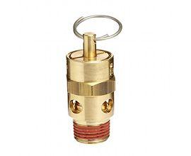 "1/4"" Male NPT Brass ASME Safety Valve 125 psi Set Pressure"