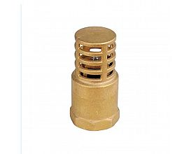 "1/2"" brass foot valve with brass"