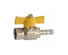 "1/4"" brass gas valve with nozzle"