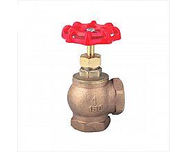 Angle bronze globe valve