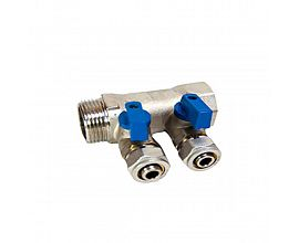 "Male 3/4"" Brass manifolds"
