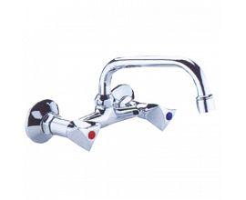 Brass Double Handle Kitchen Faucet