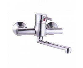 Wall Mounted Kitchen Faucet with Long Spout