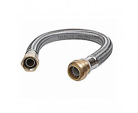 Garden stainless steel hose connector with female nut