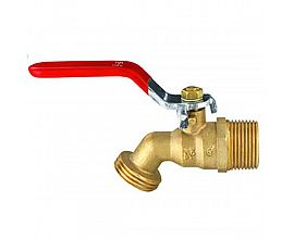 Brass male bibcock brass tap with lever handle