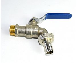 "1/2"" brass lock bibcock nickel plated"