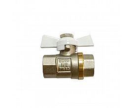 Europe Butterfly handle Female brass ball valve