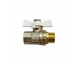 Europe Butterfly handle Female*male brass ball valve