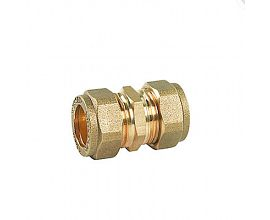15mm Brass Compression Straight Coupling