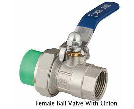 Female Brass PPR Ball Valve