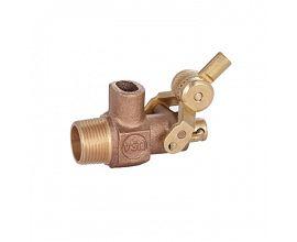 "tank bronze float balance ball valve with 5"" plastic ball"