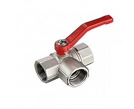 L type three way ball valve
