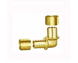Brass  elbow double female fittings