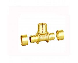 Brass PEX Tee male fittings