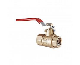 3/4 inch 600WOG NPT brass ball valve with steel plastic cover