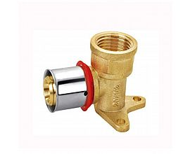 Press fittings wallplate elbow female