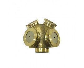 4 Head Garden Brass Sprinkler Agricultural Irrigation Mist Spray Nozzle
